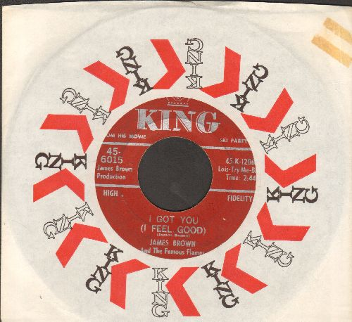Brown, James - I Got You (I Feel Good)/I Can't Help It (I Just Do-Do-Do) (with juke box label and King company sleeve) - EX8/ - 45 rpm Records