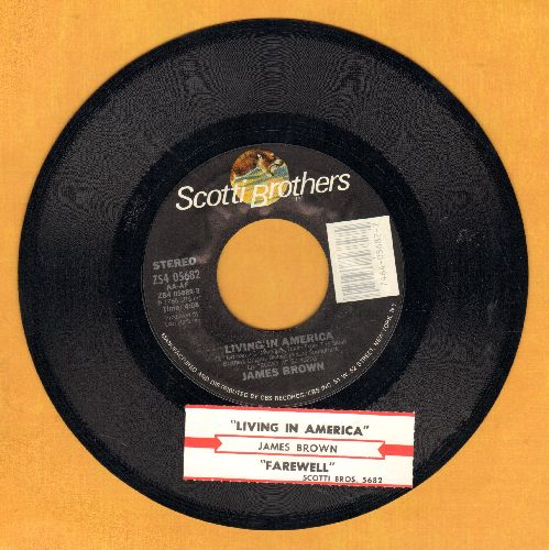 Brown, James - Living In America/Farewell (with juke box label) - NM9/ - 45 rpm Records