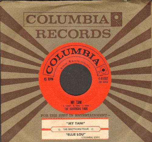 Brothers Four - My Tani/Ellie Lou (with juke box label and Columbia company sleeve)  - NM9/ - 45 rpm Records