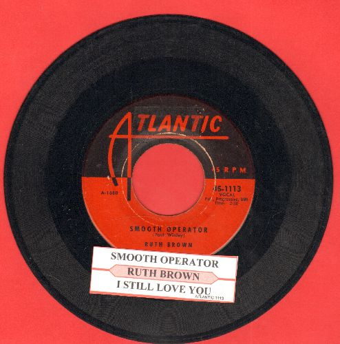 Brown, Ruth - Smooth Operator/I Still Love You (with juke box label) - VG7/ - 45 rpm Records