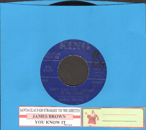 Brown, James - Santa Claus Go Straight To The Ghetto/You Know It (with juke box label) - EX8/ - 45 rpm Records