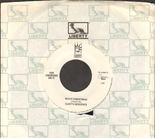 Brooks, Garth - White Christmas/God Rest Ye Merry Gentlemen (DJ copy with Liberty company sleeve) - NM9/ - 45 rpm Records