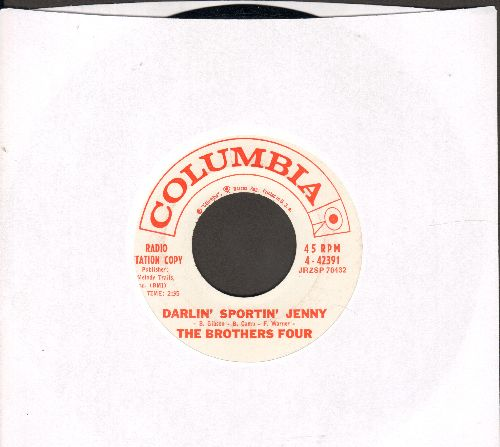 Brothers Four - Darlin' Sportin' Jenny/Slowly, Slowly (Theme From -La Fayette-)(DJ advance pressing) - NM9/ - 45 rpm Records