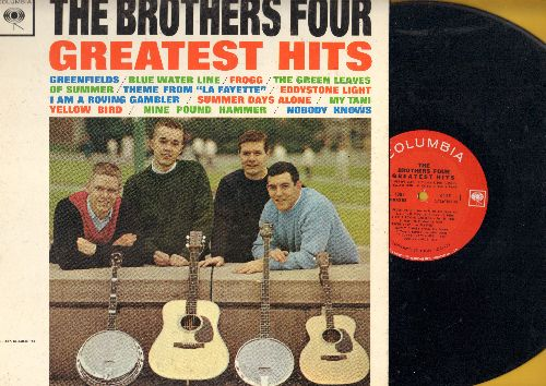 Brothers Four - Greatest Hits: Greenfileds, I Am A Roving Gambler, Nine Pound Hammer, Nobody Knows, The Green Leaves Of Summer (Vinyl STEREO LP record) - NM9/EX8 - LP Records