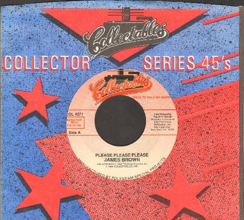 Brown, James - Please Please Please/Try Me (double-hit re-issue with Collectables company sleeve) - NM9/ - 45 rpm Records