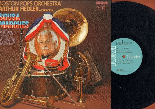 Boston Pops, Arthur Fiedler, conductor - Sousa Marches: El Capitan March, Semper Fidelis, Stars And Stripes, American Patrol (Vinyl STEREO LP record) - EX8/EX8 - LP Records
