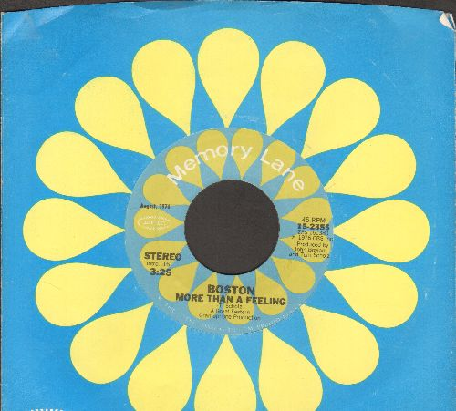 Boston - More Than A Feeling/Long Time (double-hit re-issue with company sleeve) - EX8/ - 45 rpm Records