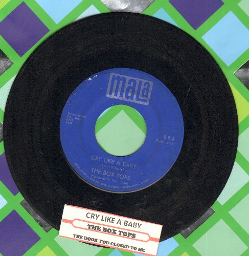Box Tops - Cry Like A Baby/The Door You Closed To Me (with juke box label) - EX8/ - 45 rpm Records