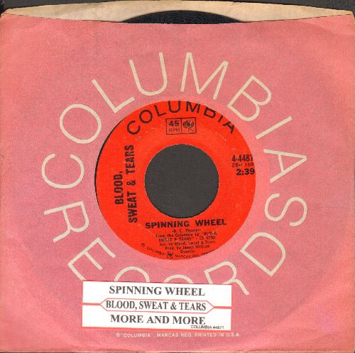 Blood, Sweat & Tears - Spinning Wheel/More And More (with juke box label and Columbia company sleeve) - NM9/ - 45 rpm Records