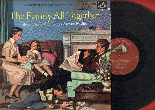 Fiedler, Arthur & Boston Pops Orchestra - The Family All Together: Porgy And Bess, Pop Goes The Weasel, Clair De Lune, Bolero, Glow Worm (Vinyl LP record, 1954 Red Seal pressing) - NM9/EX8 - LP Records