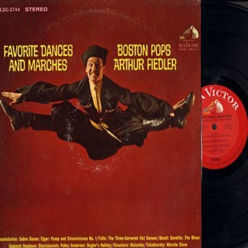 Boston Pops, Arthur Fiedler, conductor - Favorite Dances & Marches: Sabre Dance, Three-Cornered Hat, Pomp And Circumstance, Hoedown, Marche Slave (Vinyl STEREO LP record, 1964 first pressing) - NM9/EX8 - LP Records