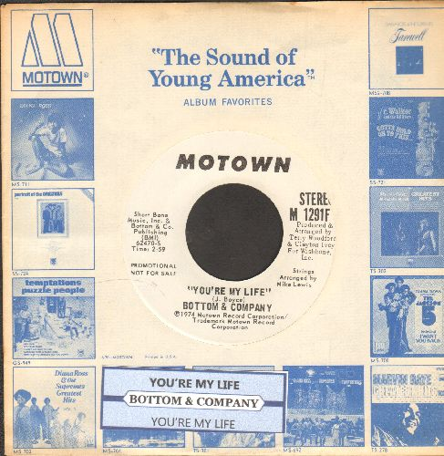 Bottom & Company - You're My Life (double-A-sided DJ advance pressing with juke box label and Motown company sleeve) - NM9/ - 45 rpm Records