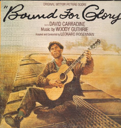 Bound For Glory - Bound For Glory - Original Motion Picture Soundtrack, music by Woody Guthrie (vinyl STEREO LP recod, gate-fold cover) - NM9/EX8 - LP Records