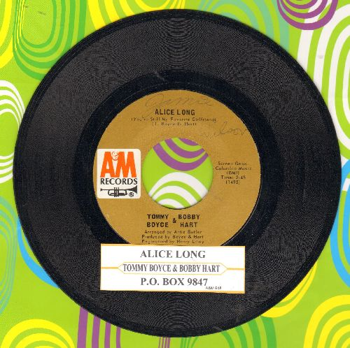 Boyce & Hart - Alice Long (You're Still My Favorite Girlfriend)/P.O. Box 9847 (with juke box label) - EX8/ - 45 rpm Records