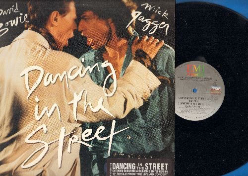 Bowie, David & Mick Jagger - Dancing In The Street (3 different Dance Club version on 12 inch vinyl Maxi Single) - NM9/EX8 - Maxi Singles
