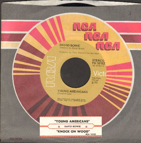 Bowie, David - Knock On Wood/Young Americans (with juke box label and RCA company sleeve) - NM9/ - 45 rpm Records