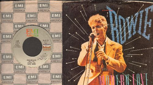 Bowie, David - Modern Love (LIVE and Studio Version) (with picture sleeve) - VG7/EX8 - 45 rpm Records