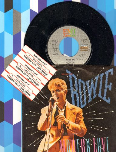 Bowie, David - Modern Love (LIVE and Studio Version) (with picture sleeve and 3 juke box labels) - NM9/EX8 - 45 rpm Records