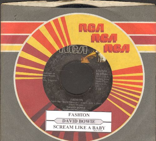 Bowie, David - Fashion/Scream Like A Baby (with juke box label and RCA company sleeve) - NM9/ - 45 rpm Records