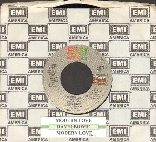 Bowie, David - Modern Love (LIVE and Studio Version of hit)(with juke box label and EMI company sleeve) - VG7/ - 45 rpm Records