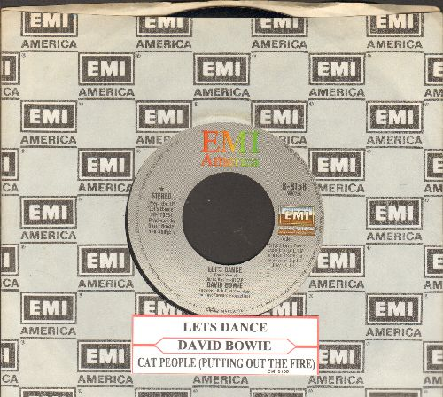 Bowie, David - Let's Dance/Cat People (Putting Out Fire) (with juke box label and EMI company sleeve) - EX8/ - 45 rpm Records