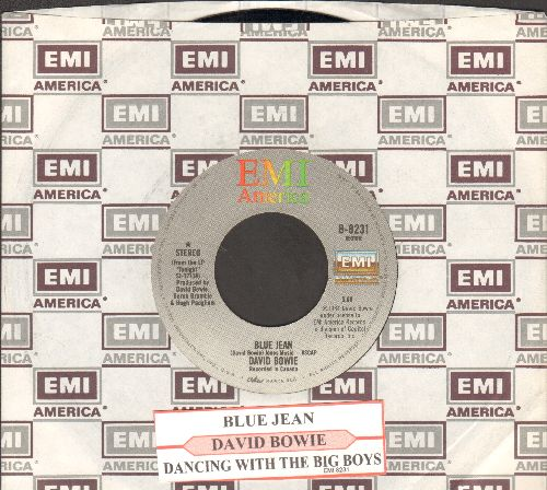 Bowie, David - Blue Jean/Dancing With The Big Boys (with juke box label and company sleeve) - NM9/ - 45 rpm Records