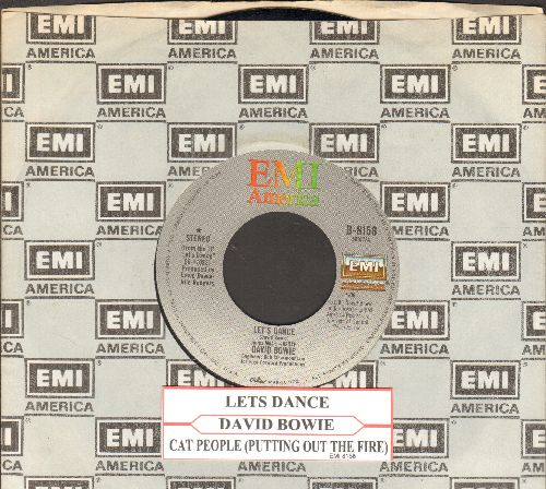 Bowie, David - Let's Dance/Cat People (Putting Out Fire) (with juke box label and EMI company sleeve) - VG7/ - 45 rpm Records