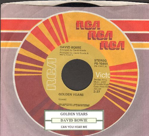 Bowie, David - Golden Years/Can You Hear Me (with juke box label and  RCA company sleeve) - NM9/ - 45 rpm Records