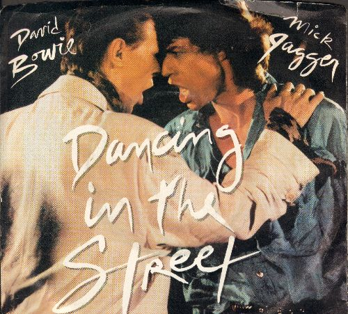 Bowie, David & Mick Jagger - Dancing In The Street/Dancing In The Street (Instrumental) (with picture sleeve) - EX8/VG7 - 45 rpm Records