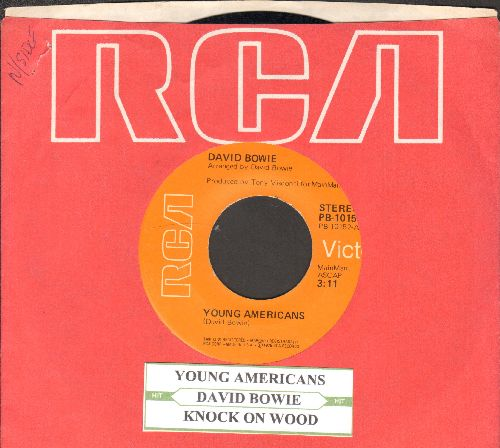 Bowie, David - Young Americans/Knock On Wood (with juke box label and RCA company sleeve) - NM9/ - 45 rpm Records