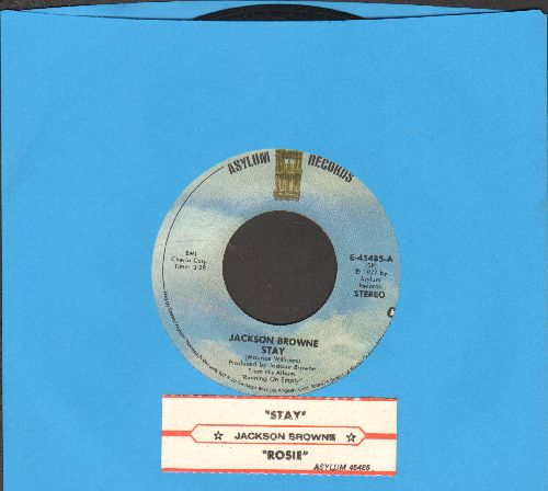 Browne, Jackson - Stay/Rosie (with juke box label) - VG7/ - 45 rpm Records