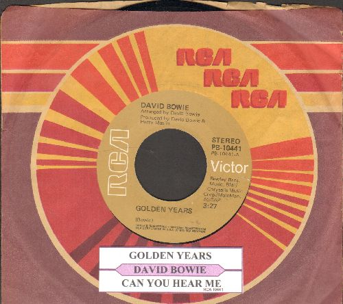 Bowie, David - Golden Years/Can You Hear Me (with juke box label and  RCA company sleeve) - VG7/ - 45 rpm Records