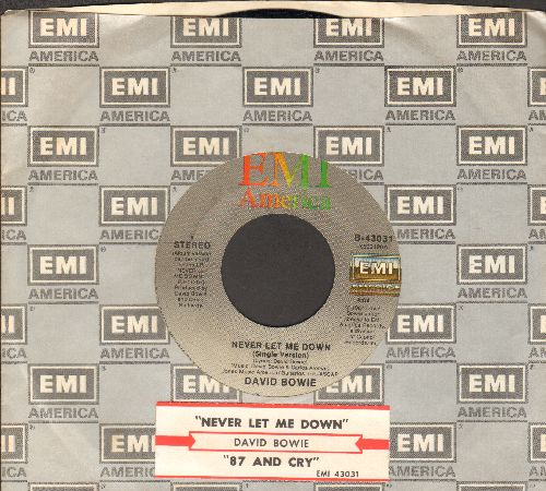 Bowie, David - Never Let Me Down/87 And Cry (with juke box label and EMI company sleeve) - EX8/ - 45 rpm Records