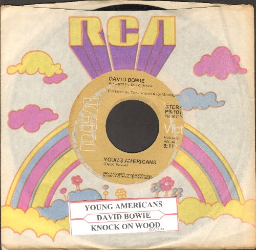 Bowie, David - Knock On Wood/Young Americans (with juke box label and RCA company sleeve) - VG6/ - 45 rpm Records