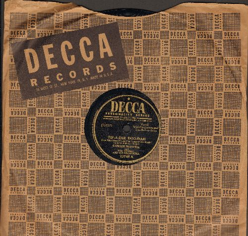 Boswell, Connee  - Zip-A-Dee Doo-Dah/Too Many Times (10 inch 78 rpm record with Decca company sleeve) - VG7/ - 78 rpm