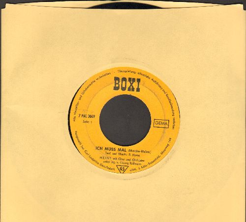 Heini - Ich muss mal (wieder A-A)/Casanova Waldemar (German Pressing, sung in German) - VG7/ - 45 rpm Records
