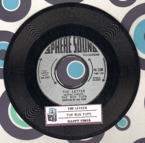 Box Tops - The Letter/Happy Times (with juke box label) - NM9/ - 45 rpm Records