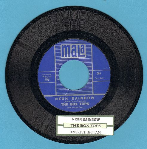 Box Tops - Neon Rainbow/Everything I Am (with juke box label) - NM9/ - 45 rpm Records