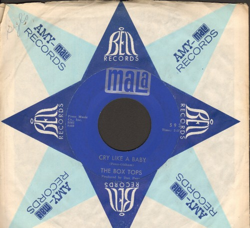 Box Tops - Cry Like A Baby/The Door You Closed To Me (with Mala company sleeve) - EX8/ - 45 rpm Records
