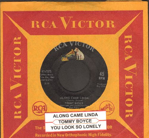 Boyce, Tommy - Along Came Linda/You Look So Lonely (with vintage RCA company sleeve and juke box label) - EX8/ - 45 rpm Records