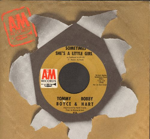 Boyce & Hart - Sometimes She's A Little Girl/Love Every Day (with A&M company sleeve) (bb) - NM9/ - 45 rpm Records