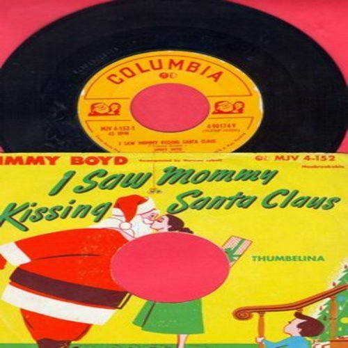 Boyd, Jimmy - I Saw Mommy Do The Mambo (With You Know Who)/Santa Claus Blues (with RARE picture sleeve) - EX8/EX8 - 45 rpm Records