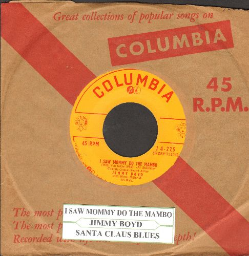 Boyd, Jimmy - I Saw Mommy Do The Mambo (With You Know Who)/Santa Claus Blues (with vintage Columbia company sleeve and juke box label) - EX8/ - 45 rpm Records