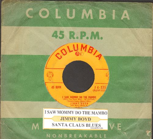 Boyd, Jimmy - I Saw Mommy Do The Mambo (With You Know Who)/Santa Claus Blues (with juke box label and vintage Columbia company sleeve) - VG7/ - 45 rpm Records