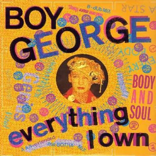Boy George - Everything I Own/Use Me (6:53 minutes Extended Dance Club Version)/Everything I Own (7:15 minutes Remix)/Everything I Own (4:20 minutes Remix)/Use Me (3:55 minutes) (12 inch vinyl Maxi Single with picture cover) - NM9/NM9 - Maxi Singles