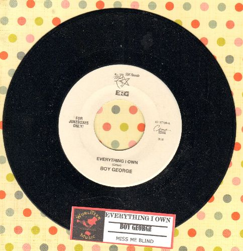 Boy George - Everything I Own/Miss Me Blind (with juke box label) - NM9/ - 45 rpm Records