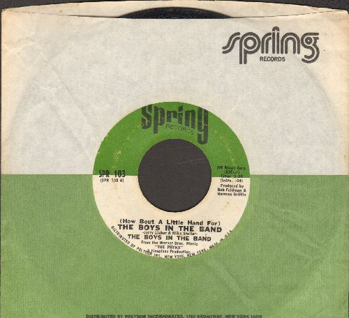 Boys In The Band - (How Bout A Little Hand For) The Boys In The Band/Sumpin Heavy (with Spring company sleeve) - EX8/ - 45 rpm Records