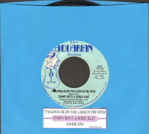 Boyce & Hart - I'm Gonna Blow You A Kiss In The Wind (featured on TV Show -Bewitched-)/Smilin' (EXTREMELY RARE Bubble-Gum-Era Original)(with juke box label) (bb) - EX8/ - 45 rpm Records
