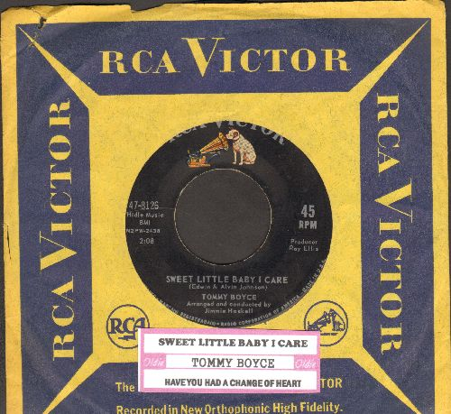 Boyce, Tommy - Sweet Little Baby I Care/Have You Had A Change Of Heart (with juke box label and vintage RCA company sleeve) - EX8/ - 45 rpm Records