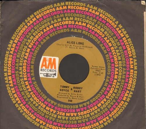 Boyce & Hart - Alice Long (You're Still My Favorite Girlfriend)/P.O. Box 9847 (with A&M company sleeve) - EX8/ - 45 rpm Records